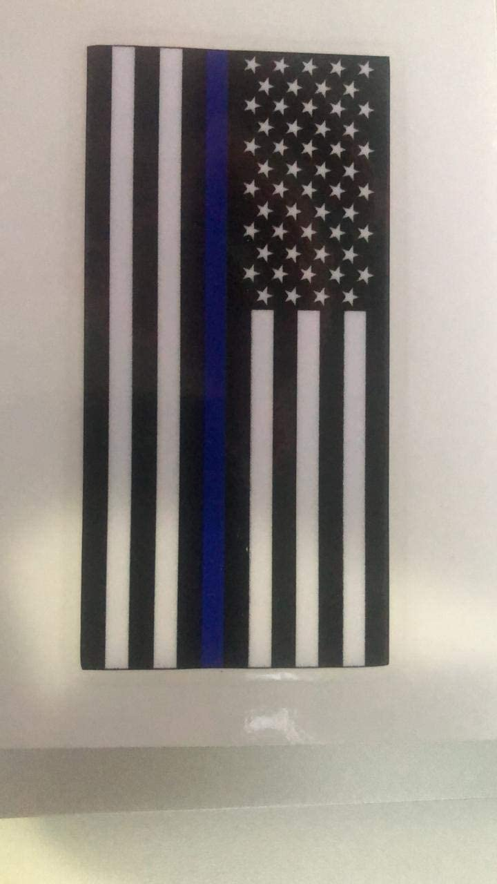 3 Pack 3x1.6 3 Pack VARIETY STORE USA American USA Flag Sticker Support Police and Law Enforcement Officers