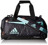 adidas Team Issue Duffel Bag, Small, Black Jersey/Energy Aqua/Lucid Red