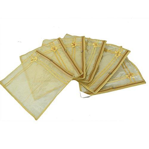 Kuber Industries™ Single Packing Saree Cover in Tissue Transparent Sheet Set of 6 Pcs  Wedding Collection Gift   KI3195