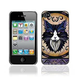 Designer Depo Hard Protection Case for Apple iPhone 4 4S / Majestic Cat