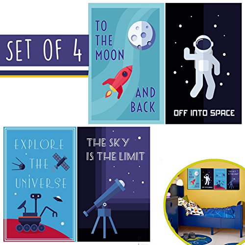 LIMITED EDITION: Kids Room Decor, Set of FOUR 11 x 17 Space
