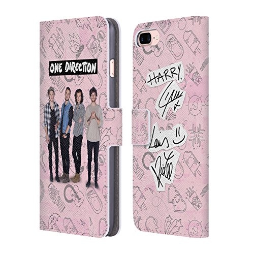 Official One Direction Pink Group Icon Leather Book Wallet C