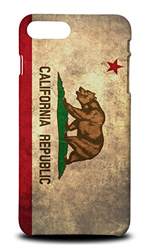 CALIFORNIA US AMERICAN STATE FLAG Hard Phone Case Cover for Apple iPhone 7 Plus / 8 Plus -