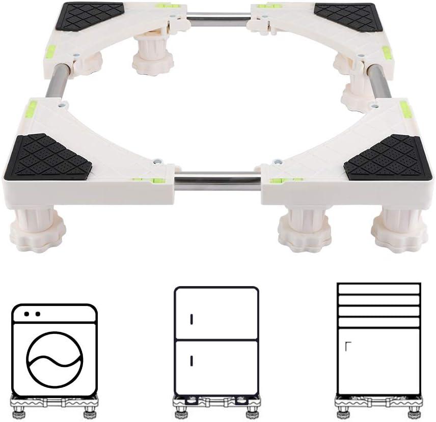 Zerodis Base Ajuatable Universal para Lavadora Secadora Frigorífico,Soporte Bandejas de Lavadora contra Vibración(8 Feet)