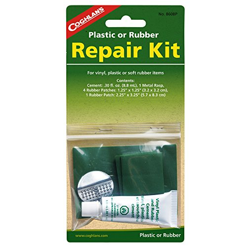 Coghlan's Plastic or Rubber Repair Kit w/ 0.3fl.oz. Rubber Patches (4-Pack) by Coghlan's