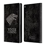 Official HBO Game Of Thrones Stark Dark Distressed Sigils Leather Book Wallet Case Cover For Amazon Fire HD 8