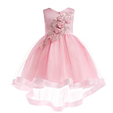 9a7ca7d18eb LZH Girls Birthday Wedding Party Dress Prom Ball Gown Bridesmaid Pageant Princess  Flower Dresses  Amazon.co.uk  Clothing