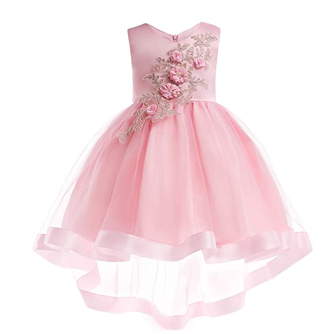8bd7919fd LZH Vestido de Fiesta de Bodas de Cumpleaños para Niñas Princesa Vestidos  de Flores