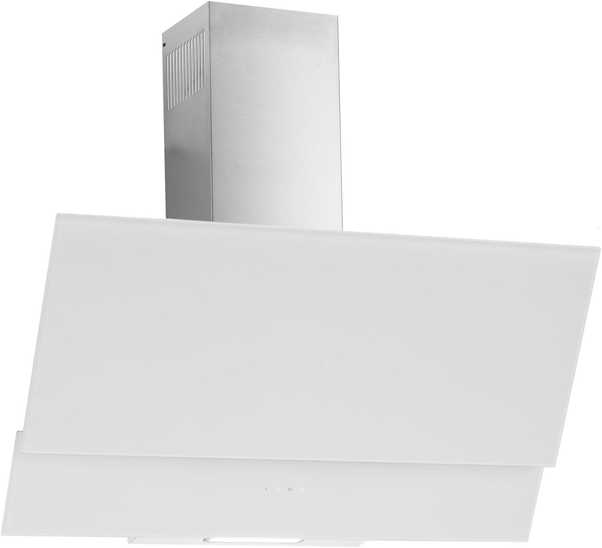Campana extractora libre de cabeza Capella Blanco Cristal 90 cm, eficiencia energética: A 850 m³/h Motor Acero Inoxidable Chimenea: Amazon.es: Grandes electrodomésticos