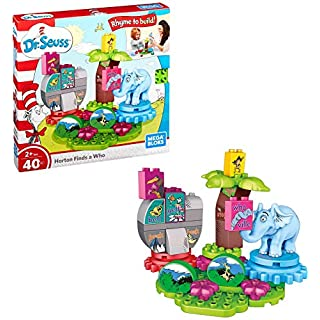Mega Bloks Dr. Seuss Horton Finds a Who Building Set (40 Piece)
