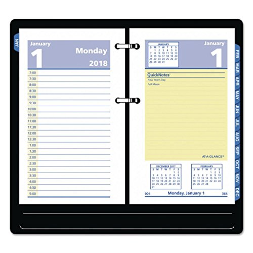 AAGE51750-3 1/2 x 6 - at-A-Glance Two-Color QuickNotes Daily Desk Calendar Refill - Each