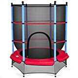 Abbeydh 55' Kids Jumping Trampoline with Safety Pad Enclosure Combo