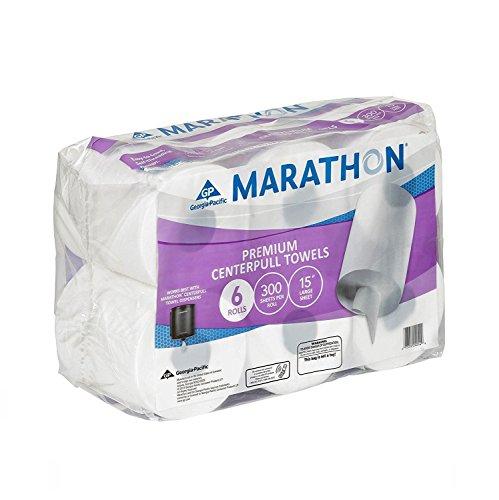 Marathon Centerpull Towels, 6 Rolls-300 sheets per roll, 15