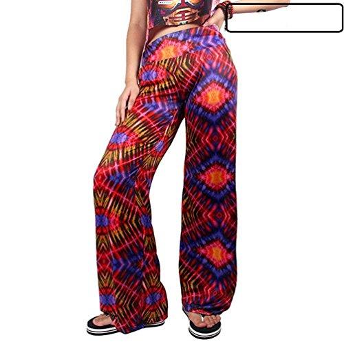 Donna Pantaloni Larghi Primaverile Autunno Eleganti Moda Vintage Colpo Pantaloni Stampato Nahen Taille Cute Chic Tempo Libero Pantaloni Pantalone Colour-8