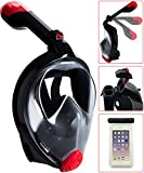 Bestlus Full Face Snorkel Mask Foldable Version 3.0 Panoramic 180° View for Adults Kids with Anti-Fog Anti-Leak Design