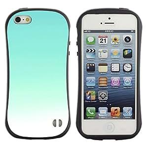 Fuerte Suave TPU GEL Caso Carcasa de Protección Funda para Apple Iphone 5 / 5S / Business Style Sky Bright Teal White Sky Sunny Summer