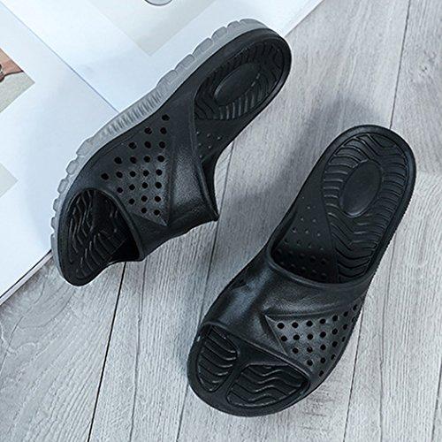 Badezimmer Hausschuhe, outgeek 1 Pair Startseite Sandalen Anti Rutsch EVA Bad Hausschuhe für Männer Black