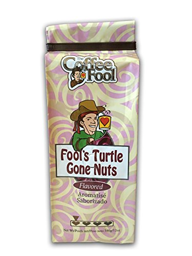 The Coffee Fool Coarse Grind, Fool's Decaf Turtle Gone Nuts, 12 Ounce ()
