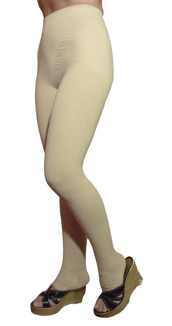 CzSalus Lipedema, Lymphedema support slimming compression leggins (Kl1 18-21 mmHg) - (Nude, S)