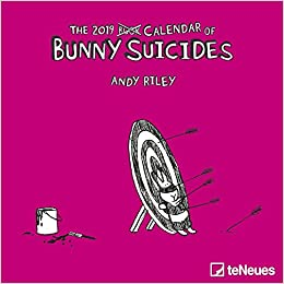 2019 Bunny Suicides Mini Grid Calendar - teNeues Humour Calendar - 17.5 x 17.5 cm