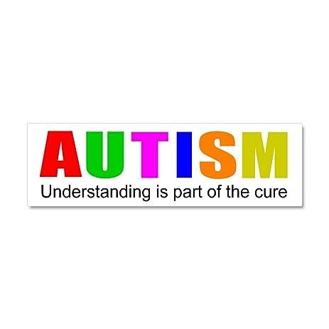 Cafepress understanding cures autism car magnet 10 x 3 car magnet 10 x 3