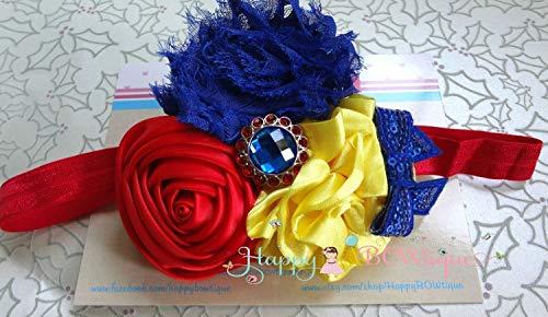 Trio Princess Snow White Headband, Princess Baby Girl Headband, Baby Girl Snow White Headband ()