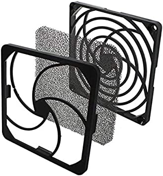 rejilla del ventilador + filtro de polvo 92x92mm 30ppi 3 partes ...