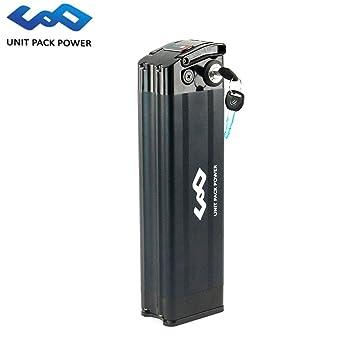 uppcycle Batería de Bicicleta eléctrica, 36V 17.5AH / 14.5AH Astilla Batería + Safe Lock + 2A Cargador, Ajuste Bafang 36V 500W Motor