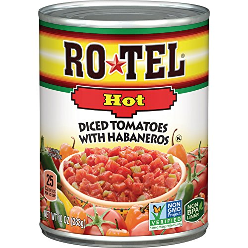 Rotel Diced Tomatoes with Habaneros Hot- 10 oz - Hot Green Tomato