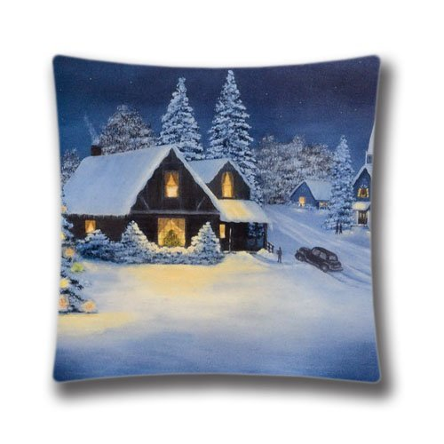 wuhandeshanbaosheng 18x18inch Pillow Case,Vintage Christmas Santa Claus Pillow Case Super Soft and Comfortable Pillowslip Christmas Cottage on Pinterest Pillow Case Cushion Cover