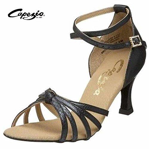 Capezio UTB24 Sofia Riemchen-Sandale, Größe 9 (39), schwarz