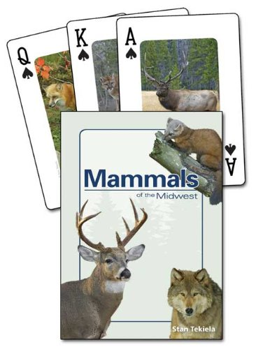 Mammals Of The Midwest Playing Cards, Nature Themed And Camp Playing Cards, Camp Games Kids And Adults Love