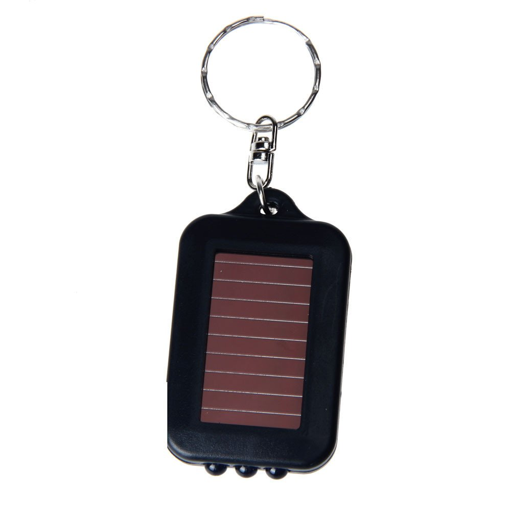 HighlifeS LED Light,Waterproof IPX4 Portable Super Mini Light LED Flashlight Key Ring Torch 3 LED Keychain Lamp (Black)