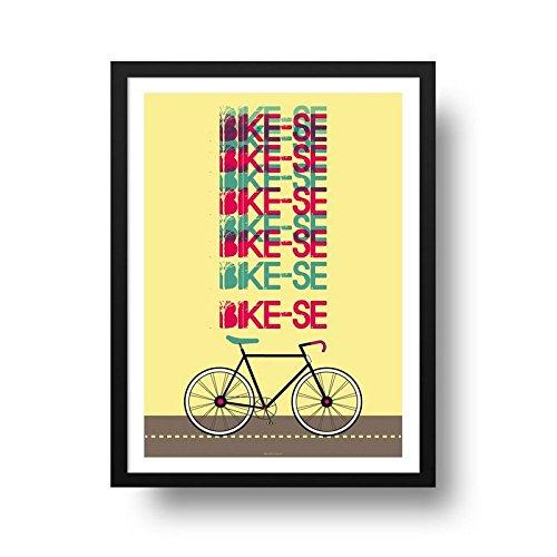Poster Bicicleta - Bike-se - Molura Preta - 40 x 50 cm