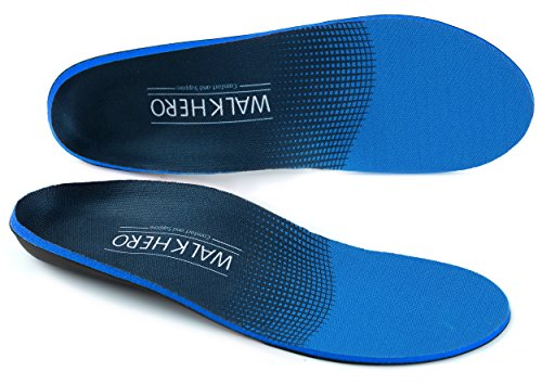 Plantar Fasciitis Feet Insoles Arch Supports Orthotics Inserts Relieve Flat Feet, High Arch, Foot Pain Mens 10-10 1/2 | Womens 12-12 1/2