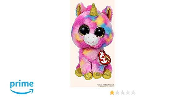 Amazon.com  New Original TY Beanie Boos Big Eyes Stuffed Animals Fantasia  Unicorn Kids Plush Toys For Children Baby Gifts 15CM by ToySDEPOT  Beauty e5a120ea38f