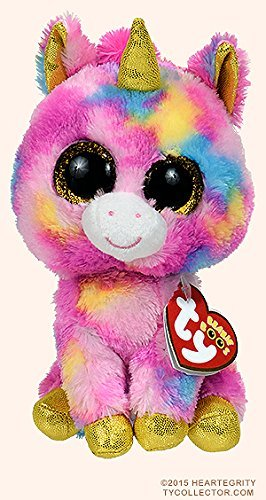 Image Unavailable. Image not available for. Colour  New Original Ty Beanie  Boos Big Eyes Stuffed Animals Fantasia Unicorn Kids Plush Toys ... 4be0d47be663
