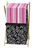 Baby/Kids Clothes Laundry Hamper for Sweet Jojo Designs for Pink and Black Madison Bedding