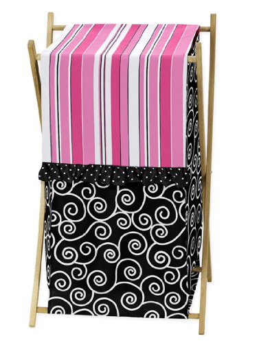 Baby/Kids Clothes Laundry Hamper for Sweet Jojo Designs for Pink and Black Madison Bedding by Sweet Jojo Designs (Image #4)