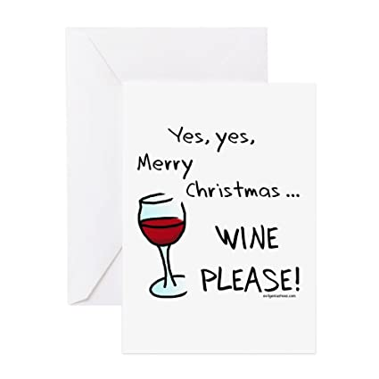 Amazon Cafepress Christmas Wine Greeting Card 10 Pack