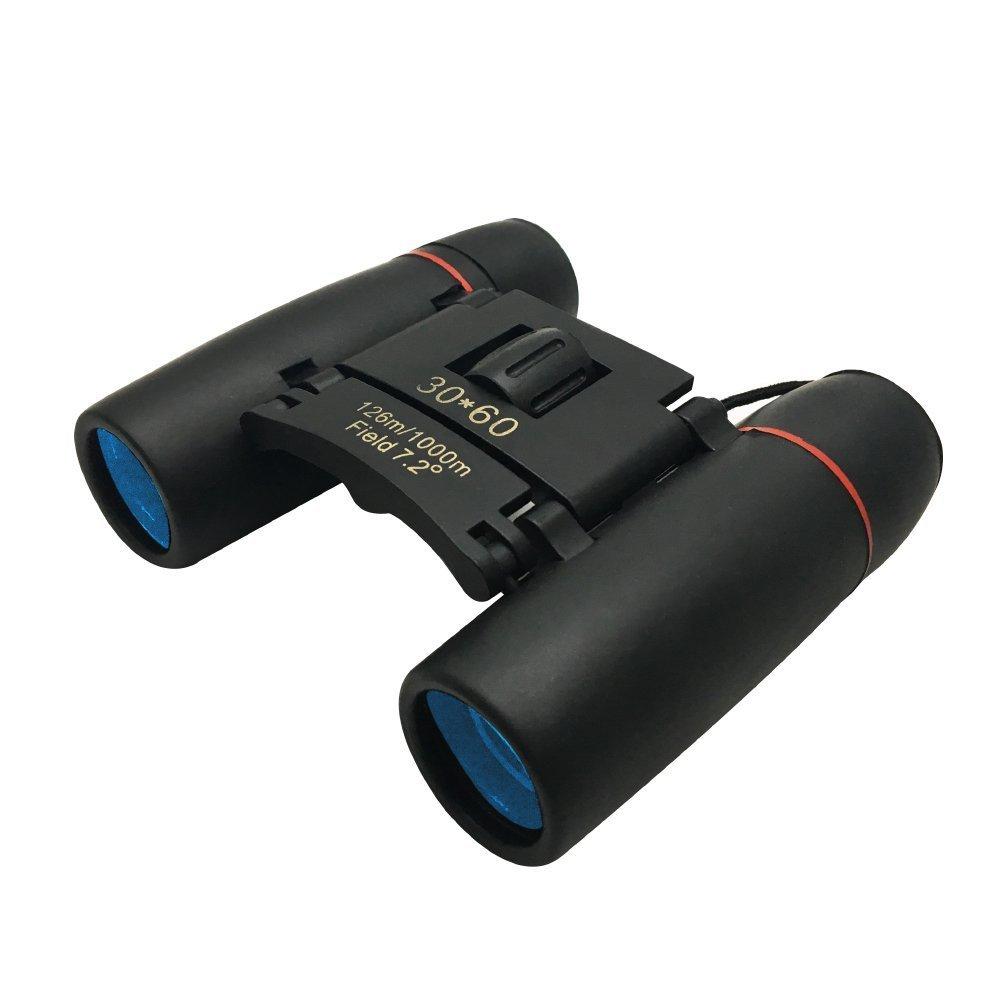 GenLed Folding Binoculars, Professional Compact Optics HD 30x60 Mini Folding Binoculars Telescope for Outdoor Travel, Sightseeing, Hunting-Black (Pocket size,Light-weight,Waterproof)