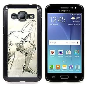 "Planetar ( Juguete blanco conejo orejas largas Gris"" ) Samsung Galaxy J2 / J200 Fundas Cover Cubre Hard Case Cover"