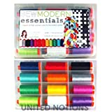 Aurifil Thread Set SEW MODERN ESSENTIALS By Angela Yosten 50wt Cotton 12 Large (1422 yard) Spools