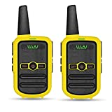 WLN KD-C52 FRS GMRS Walkie Talkie USB Chargeable Mini Handheld Two Way Radio for Kids Adults (1 Pair) (Yellow)