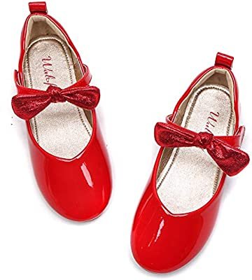 Mary Jane Shoes For Girls Size 8 Wedding Princess Red Dress Shoes
