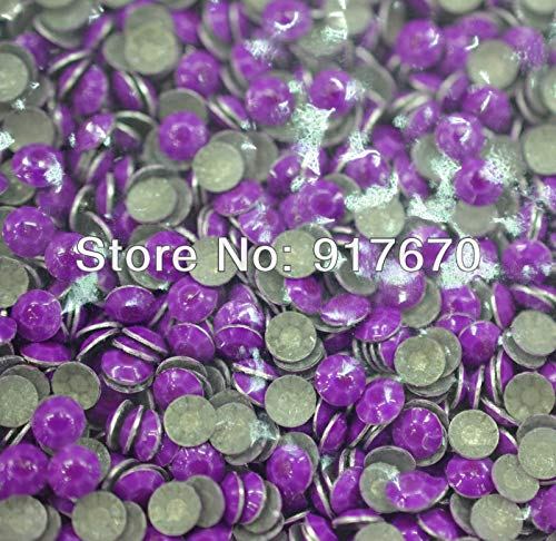 Maslin Promotional neon 2mm Korean Rhinestuds for leathercraft 1000gross, Purple Rivets for Leather, Metal Studs and Spikes for Clothes
