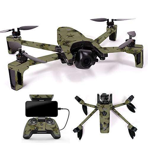 MightySkins Skin for Parrot Anafi Drone - Army Star | Protective, Durable, and Unique Vinyl Decal wrap Cover | Easy to Apply, Remove, and Change Styles | Made in The USA