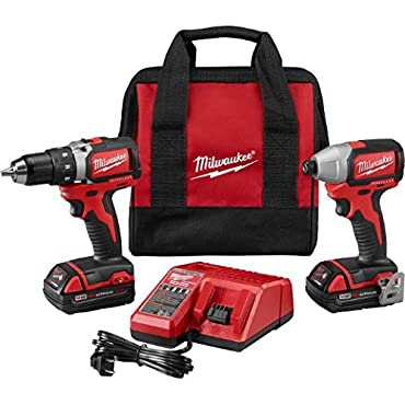 Milwaukee 2798-22CT M18 1 / 2 in. Drill Driver and 1 / 4 in. Impact Driver Kit