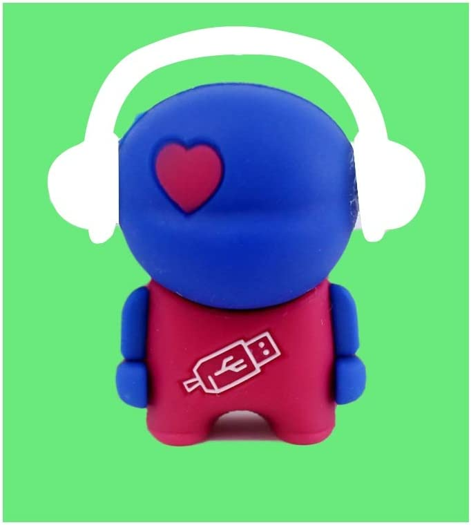 Color : A, Size : 16G Computers Accessories Creative Cartoon USB Stick 2.0 Portable Bead Chain 5.33.91.5cm Red Blue Purple Flash Drive 4G-64G 10-11