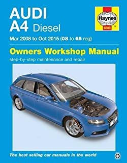 haynes 6300 audi a4 diesel manual march 2008 oct 2015 08 65 reg rh amazon co uk audi a4 b6 workshop manual pdf free audi s4 b6 workshop manual